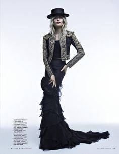 MIKE KAGEE FASHION BLOG: RUSSIAN SUPER-BEAUTY NATASHA POLY IN VOGUE RUSSIA LATEST EDITORIAL CARMEN AND TOREADOR PHOTOGRAPHED BY PATRICK DERM...