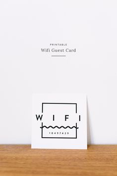 printable wifi guest