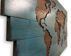 world map wall decor wood wall art push pin map travel decor adventure wanderlust carved 3d wall art map with compass continents