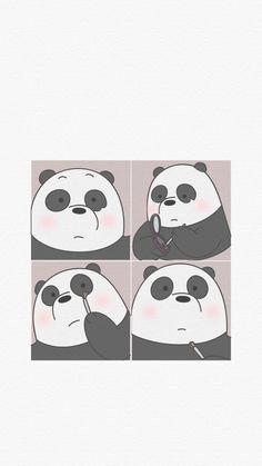 Wallpaper, Feeds & Lockscreen - ──ꪶཷ୭ we bare bears wallpaper Panda Wallpaper Iphone, Cute Panda Wallpaper, Bear Wallpaper, Cute Disney Wallpaper, Kawaii Wallpaper, Cute Wallpaper Backgrounds, Aesthetic Iphone Wallpaper, Aesthetic Wallpapers, Screen Wallpaper