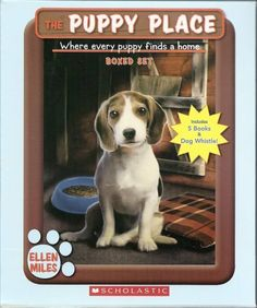 The Puppy Place Boxed Set, Books 6-10: Flash, Scout, Patches, Pugsley, and Maggie and Max (Includes Puppy Place Dog Whistle!) by Ellen Miles, http://www.amazon.com/dp/0545086221/ref=cm_sw_r_pi_dp_HHcGtb0NBQDN8