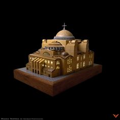 This model of the Hagia Sophia by George Panteleon makes it look as magnificent as the day Emporer Justinian had it constructed. Lego Sculptures, Cool Lego, Awesome Lego, Avatar The Last Airbender Art, Greek Culture, Byzantine Art, Hagia Sophia, Lego Models, Miniatures