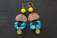 Colorful Bohemian Chandelier Earrings with by MusingTreeStudios
