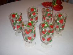 Strawberry Glasses - Had these! (I still have two~meg)