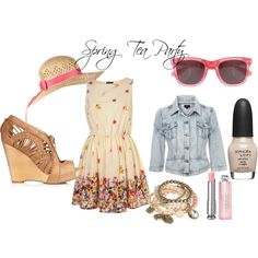 Spring Tea Party, created by macbarbie07 on Polyvore