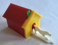 Vintage Dog House Spring Toy Plastic | eBay