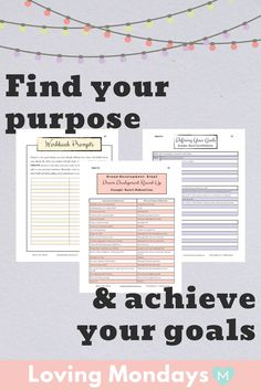 This goal planner is perfect if you're interested in organizing your life, finding your motivation, & increasing your self care. Not only that, but this goal planner is designed to help you discover your life purpose, in turn putting you on the right tra