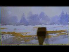 Malen mit dem Hake Brush - Winterstimmung