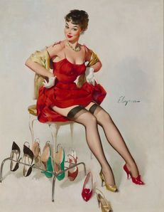 Gil Elvgren - 36 Artworks, Bio & Shows on Artsy Gil Elvgren, Erotica, Oil On Canvas, Thinking Of You, Pin Up, Artsy, Wonder Woman, Superhero, Fictional Characters
