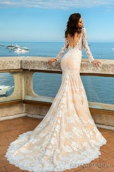 Crystal Design Haute Couture 2017 Wedding Dresses / http://www.deerpearlflowers.com/crystal-design-haute-couture-wedding-dresses-2017/6/
