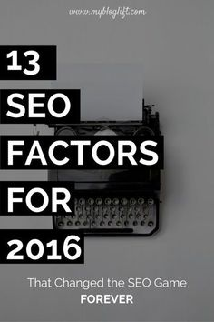 13 Game changing SEO Factors that are proven to work even after latest Google Penguin 4.0 Update. Forget your old and boring SEO techniques and try these instead. Thank me later.