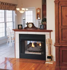 double fireplaces | great room with double sided fireplace double ...