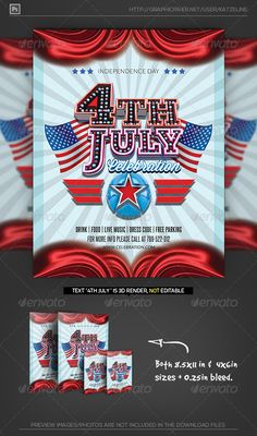July Th Independence Day Flyer Template  Party Flyer Templates