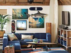 20 intéressantes façons d'utiliser une planche de surf comme décoration