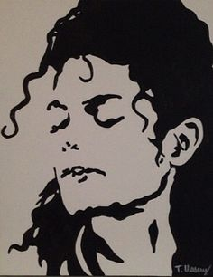 'Michael Jackson' by Tiffany Ussery Hipster Drawings, Art Drawings Sketches Simple, Art Drawings Beautiful, Michael Jackson Silhouette, Michael Jackson Painting, Silouette Art, Black Pen Drawing, Doddle Art, Captain America Art