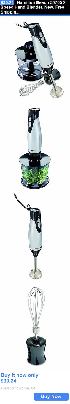 Small Kitchen Appliances: Hamilton Beach 59765 2 Speed Hand Blender, New, Free Shipping BUY IT NOW ONLY: $30.24