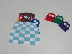Bedtime for Little Monsters | super fun book made into a flannel!