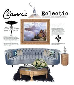 """""""Eclectic Design: Formal Alien"""" by saifai ❤ liked on Polyvore featuring interior, interiors, interior design, home, home decor, interior decorating, Haute House, Anja, CB2 and Scott Nelles"""