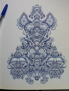 Bic pen drawing
