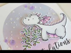17 March 2017 : Little Crafty Pill : Congratulations card /Copic Markers and Distress ink blending