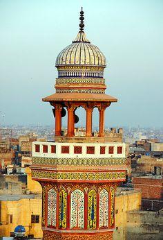 Minaret Details - Wazir Khan Mosque, Lahore, Pakistan