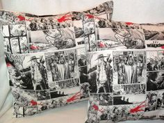 Gift Guide Gift Guide: 'The Walking Dead' Pillow Cases Thursday, April 4, 2013 - 4:00pm Rest your weary, delicious brains on these pillowcases featuring custom-printed fabric from The Walking Dead comic books. A cool addition to any Walking Dead fan's collection the covers are made to fit 16x16 pillows. The seller also offers pillowcases featuring Universal monsters, zombie in a decorative motif, dinosaur cameos, and Frankenstein and his blushing bride surrounded by daisies. $30.00 at…