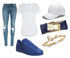 """Untitled #19"" by bantshangm on Polyvore featuring Paige Denim, Tory Burch, adidas, women's clothing, women, female, woman, misses and juniors"