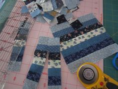 cutting the strips at 1 1/4 inch wide --- makes tiny squares for my mini quilts!