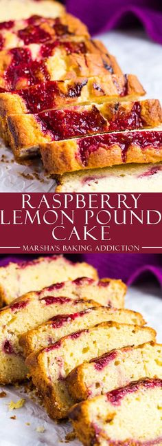 Raspberry Swirl Lemon Pound Cake | marshasbakingaddiction.com @marshasbakeblog