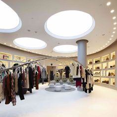 London architects Sybarite have completed the interior of a store in Las Vegas for fashion brand Marni, which features stainless steel rails snaking through the space. The rails are attached to a cash desk at one end and a fibreglass display stand for shoes at the other, while the grey walls feature convex and concave …