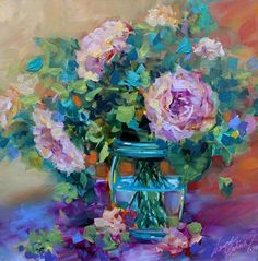 Peach Bloomers Peonies ~ Nancy Medina Art