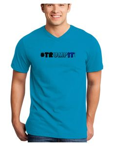 TooLoud Hashtag Trumpit Adult V-Neck T-shirt