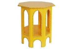 Studded Moroccan Table, Yellow