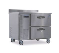 """Hoshizaki Tempguard Worktop Freezer - HWF40A-D    TempGuard™ Worktop Freezer, 8.5 c. ft., 1-section w/drawers, (2) drawers each accommodates (2) 12""""x20""""x6"""" pans (not included), stainless steel front, top & ends, stainless steel interior, (4) 6"""" casters (2 with brakes), self-contained side mount refrigeration system, 3/8 hp"""