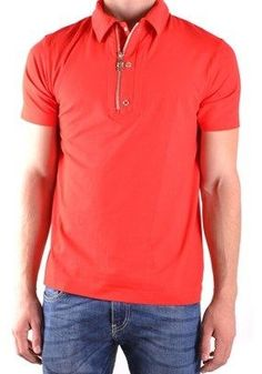 Dirk Bikkembergs Men's Red Cotton Polo Shirt.