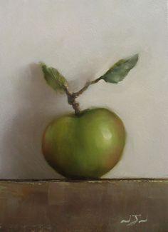 Original Oil Painting - Bramley Apple - Contemporary Still Life Art - Nelson