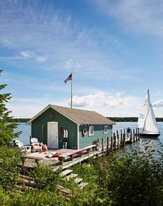 Enclosed boathouses are a hallmark of the upper peninsula region, thanks to the area's proliferation of wooden boats that needed to be out of the elements. Festivals In August, Dining Room Paint, Sight Lines, Cottage Renovation, Lake Huron, Michigan Travel, New Deck, Upper Peninsula, Lake Life