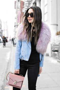 Pink and blue pastels