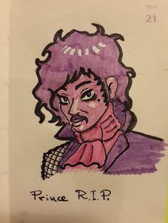 Alvaro Matteucci - #rip #ripprince #prince #theartist #tribute #dailysketch #sketch #drawing #illustration