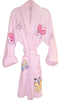 3d9638d1ce Butterfly Applique  butterflies  pink  bathrobes  aegeanapparel