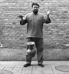 Ai Weiwei // Ai Weiwei dropping a Han Dynasty Ceramic