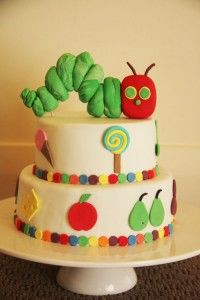the very hungry caterpillar cake topper tutorial by Bronnie Bakes