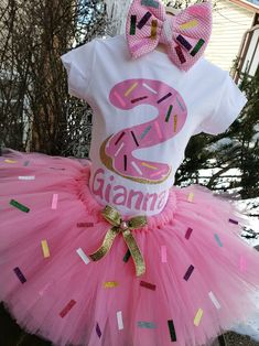 1st Birthday Tutu, Donut Birthday Parties, Baby Girl First Birthday, Bday Girl, Birthday Ideas, Sprinkles, Vanellope Y Ralph, Color Rosa Claro, Grown Up Parties