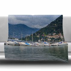 "East Urban Home Italian Harbor Fleece Throw Blanket Size: 40"" L x 30"" W"