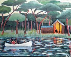Akryl på lærred 40 ×50 malet af Annemarie  Elal