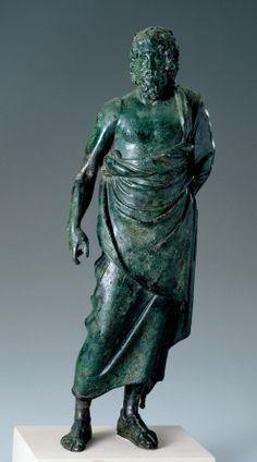 Bronze Statuette of Asklepios. Greece/Asia Minor. Hellenistic. c.150-50 BC. Source: Cincinnati Art Museum