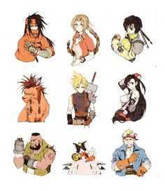 Favorite artwork and characters from the various Final Fantasy games Final Fantasy 3, Final Fantasy Tattoo, Final Fantasy Artwork, Final Fantasy Characters, Fantasy Series, Tifa Ff7 Remake, Nail Bat, Character Art, Character Design