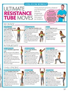 you can do these while watching tv and the great thing is you don't need a lot of space, and a resistance tube is fairly inexpensive at any Wal Mart, Winners .......