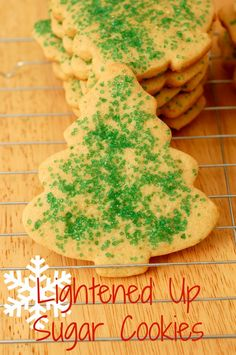 {A Kitchen Addiction} Lightened Up Sugar Cookies for #Christmas
