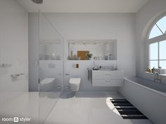 Glass Bathroom (Bathroom) Glass Bathroom, Bathtub, Toilet Room, Bathrooms, Maids, Standing Bath, Bath Tub, Bathtubs, Bath
